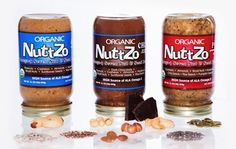Skip the peanut butter NuttZo is made with seven 100% organic nuts and seeds, and in just two tablespoons you get 50% of your daily value of omega 3s!