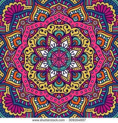 Ambesonne Mandala Tapestry, Lively Colored Abstract Motif Inspired by Cultures Floral of Cosmos, Wall Hanging for Bedroom Living Room Dorm, X Multicolor Mandala Art, Mandalas Painting, Mandalas Drawing, Mandala Tapestry, Pretty Phone Wallpaper, Pink Wallpaper, Cellphone Wallpaper, Pattern Wallpaper, Golden Wallpaper