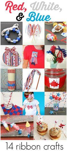 Crafty Hangouts: 14 Patriotic Ribbon Crafts