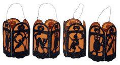 Halloween paper lantern free vintage pattern