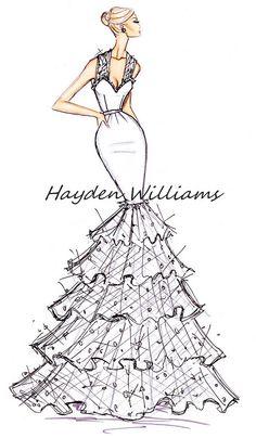 New fashion ilustration collection haute couture hayden williams ideas Moda Fashion, Fashion Art, Trendy Fashion, Fashion Models, Fashion Show, 80s Fashion, Korean Fashion, Grunge Fashion, Fashion Online
