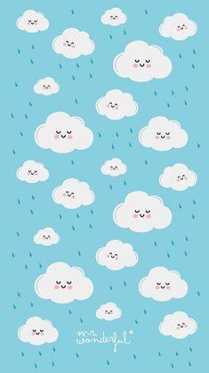 Wallpaper n uvem Clouds Wallpaper Iphone, Cloud Wallpaper, Kawaii Wallpaper, Tumblr Wallpaper, Galaxy Wallpaper, Screen Wallpaper, Mr Wonderful, Rain Wallpapers, Cute Wallpapers