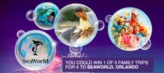 Contest ~ Enter to Win 1 of 3 Trips for Four to SeaWorld, Orlando, Florida! - Fru-Gals