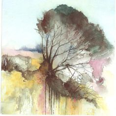 Windblown Tree Watercolour by Sussex Watercolour Society