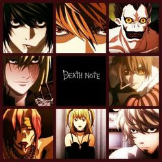 L, Light, Ryuk, Matt, Near, Misa, Rem, and Mello         _Death Note