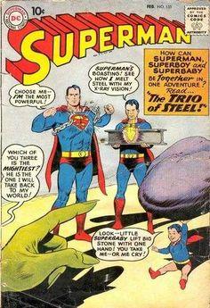 1960-02 - Superman Volume 1 - #135 - When Lois First Suspected Clark was Superman - Superman's Mermaid Sweetheart - The Trio of Steel! #SupermanComics #DCComics #SupermanFan #Superman #ComicBooks
