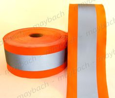REFLECTIVE-MATERIAL-FABRIC-tape-sew-on-4-1-2-ANSI-II-Safety-Orange