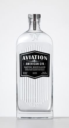 Aviation Gin | #packaging #design by Sandstrom Partners. From United States.