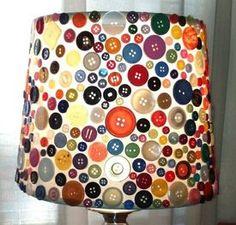 button lampshade - cool idea