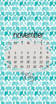 November calendar iphone wallpaper lock screen