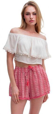 BohoPink - Lush Corpus Christi Boho Shorts, $42.00 (http://www.bohopink.com/lush-corpus-christi-boho-shorts/)