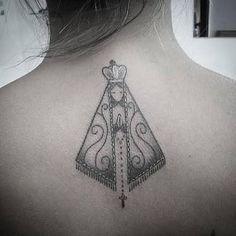 Resultado de imagem para tatuagens de nossa senhora aparecida tribal