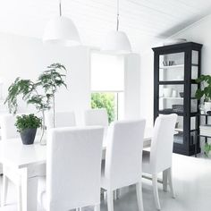 Find images and videos about love, style and white on We Heart It - the app to get lost in what you love. Dining Chairs, Dining Table, White Tiles, Scandinavian Home, Sweet Home, Classy, Flooring, Trending Outfits, Interior