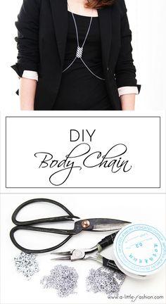 DIY Body Chain / Körperkette / Harness #diy #deko #decoration #trend #tutorial #anleitung #selbermachen #filizity