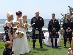 Beautiful day on the Gold Coast, piper escorted bride and men looked amazing in kilts. #myweddings #kaywaldingcelebrant #wonderfulweddings