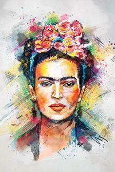 Painter Artist, Artist Canvas, Canvas Artwork, Canvas Art Prints, Pop Art, Motif Photo, Frida Kahlo Portraits, Frida Art, Poster Art