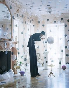 Tim Walker Photography - pink polka dot room