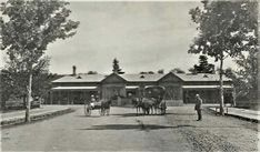Wagga Wagga Railway Station in the Riverina region of New South Wales in 1900.