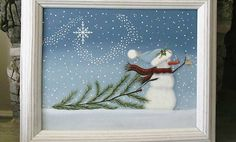 www.CraftIdeas.com Paint a new winter scene for your January décor. Fun techniques and sweet imagery are a perfect combination.