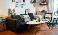 Margot's chic living room | HEKTAR lamp | Follow her at youmakefashion.fr | live from IKEA FAMILY