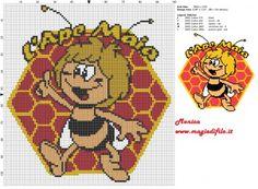 Schema punto croce l'Ape Maia 2 100x107 5 colori.jpg (3.09 MB) Mai osservato