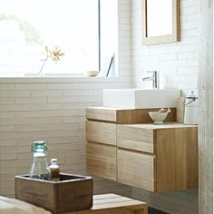 White bathroom with a spa-style feel {growingspaces.net}