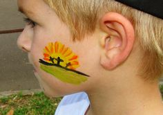 Easter face paint design - cheek art