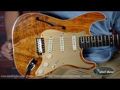 Fender 2017 NOS Artisan Thinline Koa Stratocaster Stratocaster Guitar, Fender Guitars, Vintage Electric Guitars, Guitar Pics, Guitars For Sale, Fender Squier, Fat Man, Ukulele, Instruments