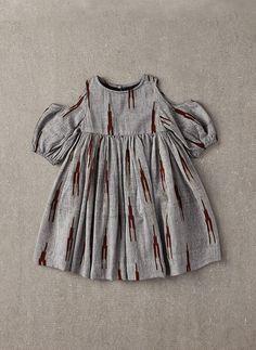 Nellystella Vanessa Dress in Grey & Brown Ikat