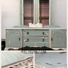 Blue Green Furniture Paint: MudPaint Vintage Furniture Paint