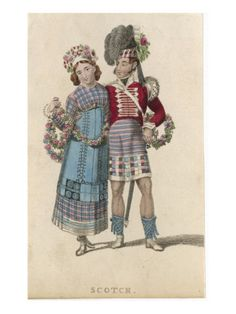 Scottish Bride and Groom in their Wedding Costume