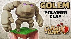 Golem (Clash of Clans) - Polymer Clay Tutorial #golem #clashofclans #clashroyale