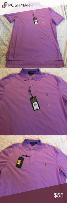 NWT Polo Ralph Lauren Shirt Sz Medium New with Tags  Size Medium Color Purple   Short Sleeve  100% Pima Soft Touch Cotton I Guarantee Authentication Of this Nice Shirt.  Please Check My Other Listings And Make A Bundle. Code : MA Polo by Ralph Lauren Shirts Polos