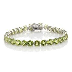 Liquidation Channel: Hebei Peridot Bracelet in Platinum Overlay Sterling Silver (Nickel Free)