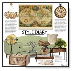 """Globe Trotter"" by hastypudding ❤ liked on Polyvore featuring interior, interiors, interior design, home, home decor, interior decorating, Trademark Fine Art, Nearly Natural and CB2"