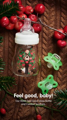 Cosy days before Christmas with our MAM Feel Good Glass Bottle and Comfort Soothers! ✨ Best Baby Bottles, Glass Baby Bottles, Days Before Christmas, Kid Stuff, Cool Stuff, Heating And Cooling, Breastfeeding, Cosy, Feel Good