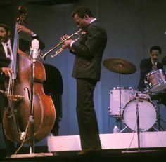 Ron Carter, Miles Davis, and Tony Williams. (July, 04, 1966.)