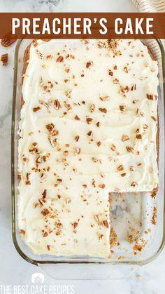 Spice Cake Recipes, Easy Cake Recipes, Baking Recipes, Muffin Recipes, Dessert Recipes, 9x13 Cake Recipe, Preacher Cake, Old Fashioned Cake Recipe, Gourmet Chicken
