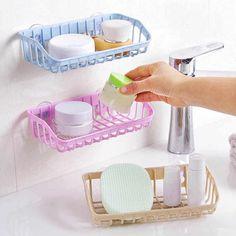 Sponge Draining Rack Double-layer Towel Sink Holder Sucker Storage Organizer