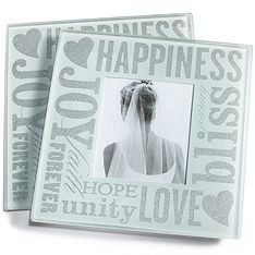 Love and Happiness Photo Glass Coaster Favor Set