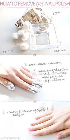puntas de las uñas