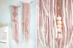 Wall Hangings: We're going ga-ga over these gorgeous wall hangings that would add crafty character to any modern home. Add extra charm with a string of metallic beads