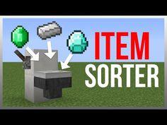 Minecraft 1.9: Redstone Tutorial - Item Sorter (Hidden) - YouTube
