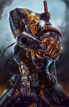 Deathstroke (Slade Wilson) originally called simply the Terminator is a fictional character, supervillain, and sometimes antihero, in the DC Comics universe. Created by Marv Wolfman and George Perez, he first appeared in The New Teen Titans vol. 1 #2 in 1980.