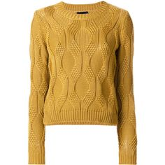 When it's cold all we want to wear is a cosy knitted jumper, luckily our women's knitwear at Farfetch is so attractive. Merino Wool Sweater, Cable Knit Sweaters, Sewing Clothes, Crochet Clothes, Yellow Sweater, Brown Sweater, Warm Outfits, Sweater Fashion, Pulls