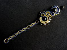 Nefretete bracelet. Soutache with TOHO and Fire Polish. Visit also FB page here: https://www.facebook.com/handmadebyaga ! :-)