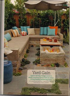 I like the idea of this use of backyard space