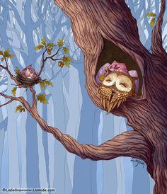 'Owl Goodnight' by Lia Selina