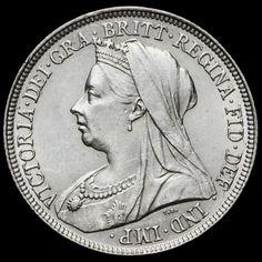 1893 Queen Victoria Veiled Head Silver Shilling – A/UNC