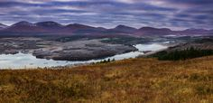 A panorama of the Scottish Highlands near Invergarry in late autumn (OC) [1024x500]